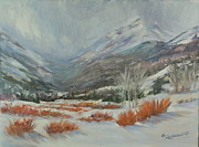 Park Scene Paintings - Endo Valley Spring Squall by Sharon Lazarowicz