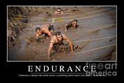 Distress Posters - Endurance Inspirational Quote Poster by Stocktrek Images