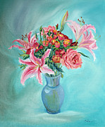 All-star Paintings - Enduring Love Bouquet by Asha Carolyn Young