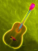 Music Lovers - Energy Neon Guitar by Hanza Turgul