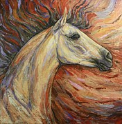 White Horse Paintings - Energy by Silvana Gabudean