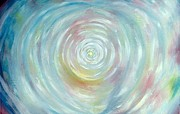 Healing Posters Painting Metal Prints - Energy Vortex Metal Print by Eileen Anglin