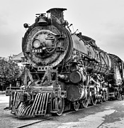 Northern Colorado Prints - Engine 2912 Black and White Print by JFantasma Photography