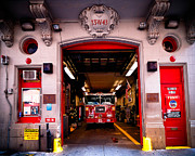 Firetruck Posters - Engine Company 65 Firehouse Midtown Manhattan Poster by Amy Cicconi