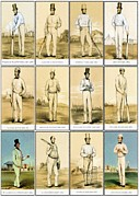 Cricket Mixed Media - England Cricketers of Yore by Charles Ross