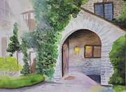 Acrylics Painting Prints - Englis House Estate in Ann Arbor Michigan Print by Yoshiko Mishina