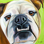 English Bulldog Paintings - English Bulldog by Melissa Smith
