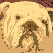 Brown Prints Prints - English Bully Print by Holly Picano
