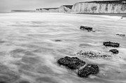 Seven Sisters Framed Prints - English Channel and the Seven Sisters Framed Print by Semmick Photo
