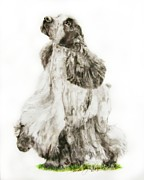 English Cocker Spaniel Posters - English Cocker Roadie Poster by Linda Zielinski