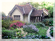 Mass Photo Posters - English Cottage Garden Poster by Edward Fielding