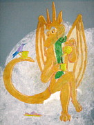 Fantasy Pastels - English Dragon by Wendy Coulson