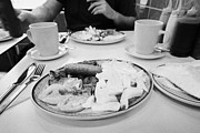 Greasy Spoon Prints - English Fried Breakfast For Two In A Greasy Spoon Cafe In Central London England Uk Print by Joe Fox