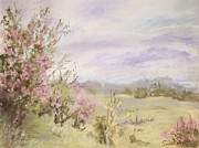 England Pastels Framed Prints - English Hawthorn Framed Print by Barbara Smeaton