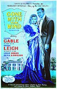 Film Mixed Media - English poster of Gone with the Wind by Art Cinema Gallery