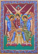 Psalter Paintings - English Romanesque Trinity by Peter Murphy