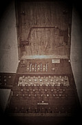 Wartime Framed Prints - Enigma Machine Framed Print by Odd Jeppesen
