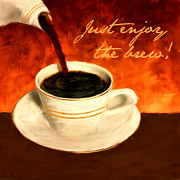 Italia Digital Art - Enjoy The Brew by Lourry Legarde