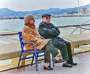 Old Town Digital Art - Enjoying Late Fall in Cannes by Yury Malkov