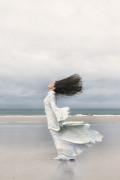 Enjoying Framed Prints - Enjoying The Wind Framed Print by Joana Kruse