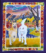 Husky Dog Paintings - Enlightened Beings by Harriet Peck Taylor