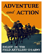 Featured Framed Prints - Enlist In The Field Artillery Framed Print by War Is Hell Store