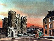 Vinegar Painting Framed Prints - Enniscorthy Castle Wexford Framed Print by Val Byrne