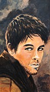 Singer Painting Originals - Enrique Iglesias by Shirl Theis