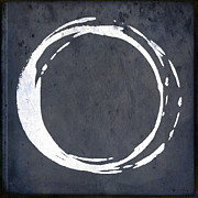 Modern Buddhist Art Art - Enso No. 107 Blue by Julie Niemela