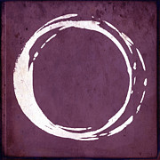 Modern Buddhist Art Art - Enso No. 107 Magenta by Julie Niemela