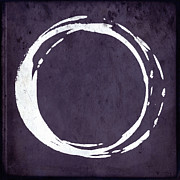 Modern Buddhist Art Art - Enso No. 107 Purple by Julie Niemela