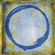 Acrylic Print Digital Art - Enso No. 109 Blue on Blue by Julie Niemela