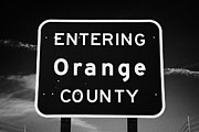 Entering Photo Prints - Entering Orange County Near Orlando Florida Usa Print by Joe Fox