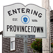 Dark Gray Blue Framed Prints - Entering Provincetown Framed Print by Michelle Wiarda