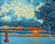 Lightning D Originals - Entering Stormy Charleston Harbor by Dwain Ray
