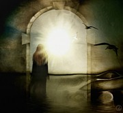Portal Digital Art - Entering the gate by Gun Legler
