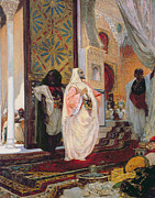 Wives Paintings - Entering the Harem by Georges Clairin