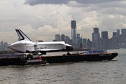Space Shuttle Enterprise Framed Prints - Enterprise to the Intrepid Air and Space Museum Framed Print by Steven Spak