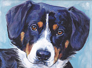 Dog Art Paintings - Entlebucher Mountain Dog by Lee Ann Shepard