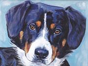 Entlebucher Mountain Dog Print by Lee Ann Shepard
