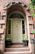 Entrance Door Photos - Entrance Door Beacon Hill - Boston by Christiane Schulze