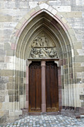 Rottweil Framed Prints - Entrance door church Framed Print by Matthias Hauser