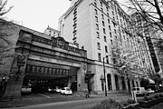 Fairmont Prints - entrance to fairmont hotel Vancouver BC Canada Print by Joe Fox