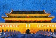 Beijing Paintings - Entrance to forbidden city by George Atsametakis