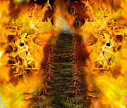 Criticism Mixed Media Prints - Entrance to hell Print by Joe Russell