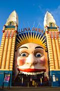 Entrance To Luna Park - Sydney - Australia Print by David Hill