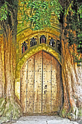 Medieval Entrance Posters - Entrance to Middle Earth Poster by Elvis Vaughn