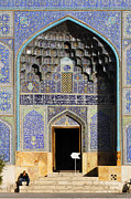 Allah Photos - Entrance to the Lotfallah mosque at Isfahan in Iran by Robert Preston