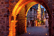 Medieval Entrance Posters - Entry to Riquewihr Poster by Brian Jannsen