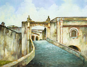 Puerto Rico Paintings - Entry to San Cristobal by Monica Linville